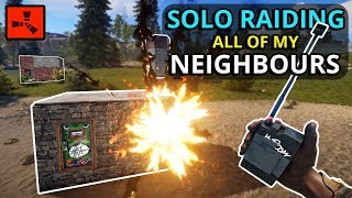 I SOLO RAIDED All Of My Neighbours And THIS Is The LOOT I Made!! - RUST SOLO
