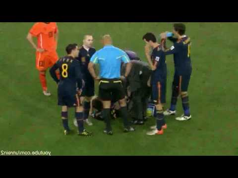 Kung Fu Kick - Nigel de Jong on Xabi Alonso - Netherlands vs. Spain - World Cup Final 2010