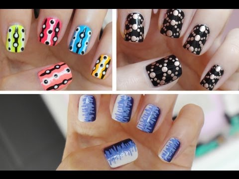 easy nail art for beginners 2  youtube
