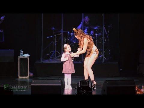 Ани Лорак с дочкой на концерте в Майами, 22-01-16