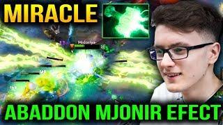MIRACLE Abaddon BATTLE PASS 2018 Mjollnir EFFECT vs Mambos PL