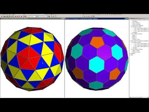 Hexadome/honeycomb geodesic structures