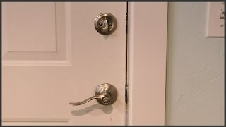 how to replace an exterior door knob lock door installation