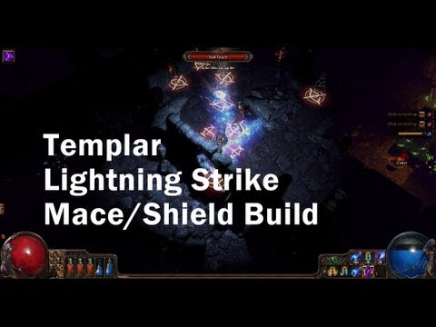 Path of Exile Lightning Strike Templar Build (Mace/Shield)