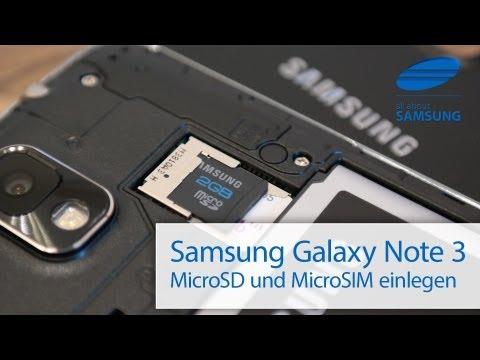 Samsung Galaxy Note 3 MicroSIM / SIM und MicroSD einlegen