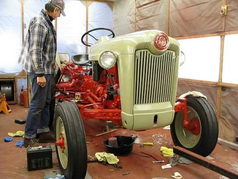 Second starting of 1953 Ford Jubilee tractor Video #2