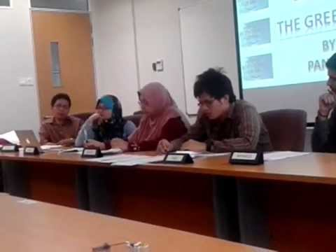 Panel Discussion Economic By MBA student at UTM (University Technology of Malaysia)