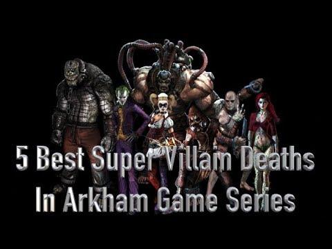 5 Best Super Villain Deaths in The Arkham Game Series