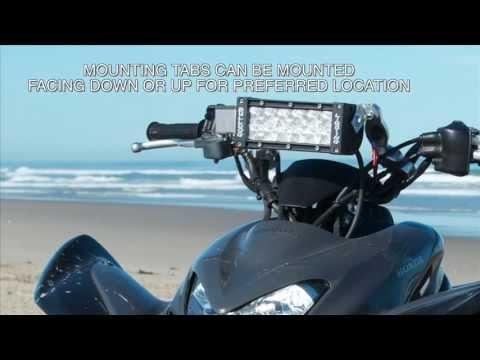 Atv Led Handlebar Light Mount Youtube