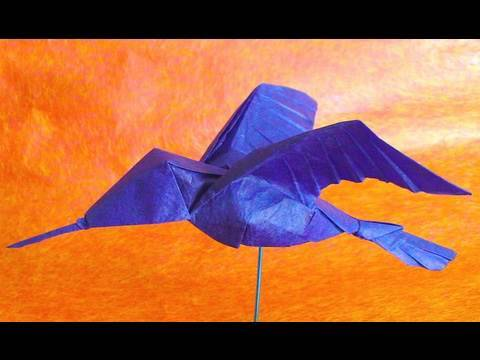 Колибри оригами. Видео схема.