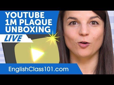 1 Million Subscriber Plaque Unboxing! Woohoo!