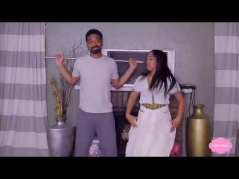 "AMERICAN BOYFRIEND DANCING TO ETHIOPIAN MUSIC AMHARIC, TIGRNGHA, GURAGE  ""BELLATV"""