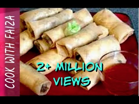 CHICKEN SPRING ROLL *COOK WITH FAIZA*