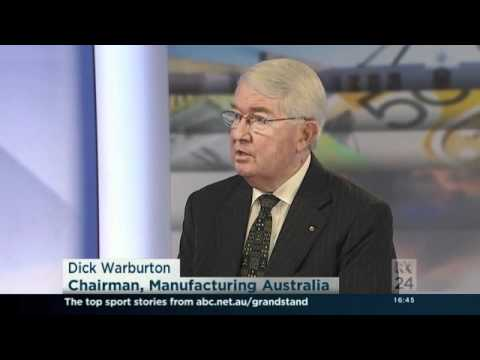 Dick Warburton of Manufacturing Australia interviewed on News24