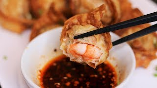 THE SECRET TO CRUNCHY FRIED WONTONS REVEALED!  Crispy Fried Wonton Recipe