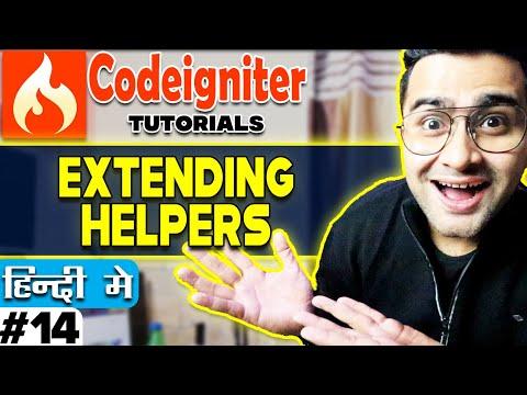 Codeigniter 3 Tutorial in Hindi (Extending Helpers) | Part-14