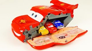 Disney Cars Toys Lightning McQueen Transforming Drift Driving course Playset  for Kids Japanese toy