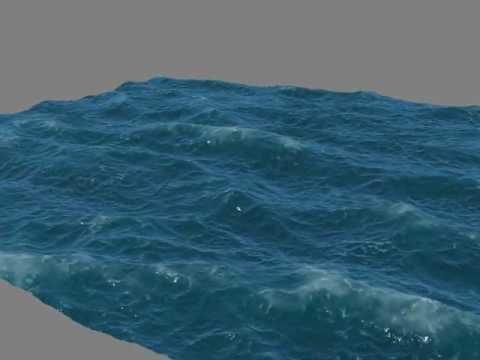 3d море как сделать
