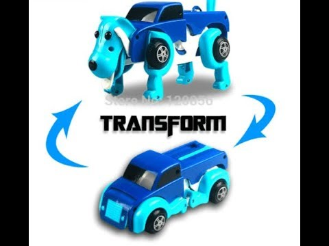 Dog Transformer Wind Up Toy