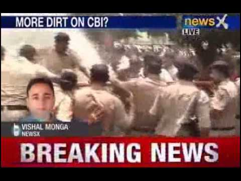 Railgate scam BJP protest outside CBI office in Chandigarh