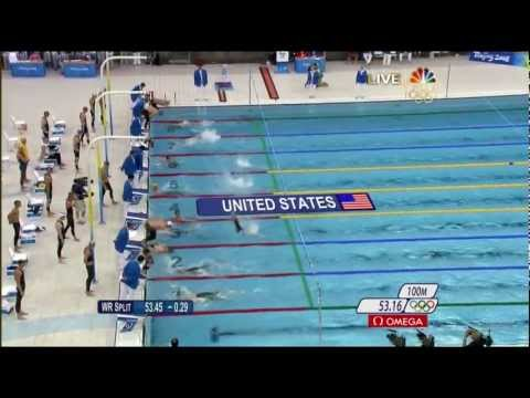 Michael Phelps 8th Gold 2008 Beijing Olympics Swimming Men's 4 x 100m Medley Relay