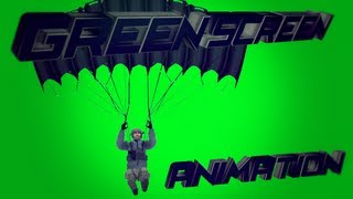 Parachute animation and M4A1 # Green Screen animation !