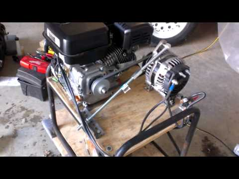 Home made emergency inverter generator