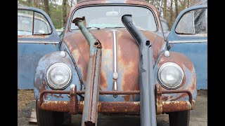 58 Vw Bug Heater Channels : Working on the 1958 Volkswagen Beetle Patina ride this weekend .