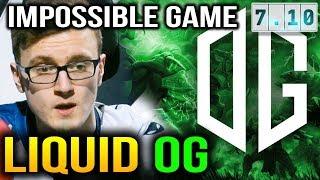 LIQUID VS OG - IMPOSSIBLE GAME for Team Liquid BUCHAREST MAJOR 2018 Dota 2 7.10