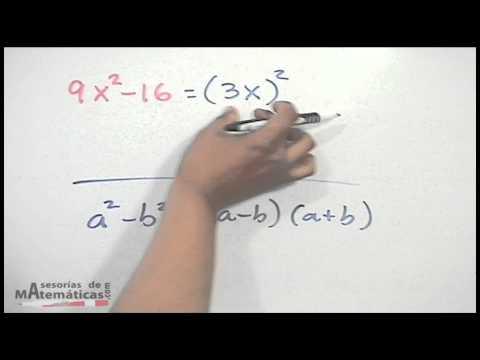 Ejercicio de factorizar por diferencia de cuadrados