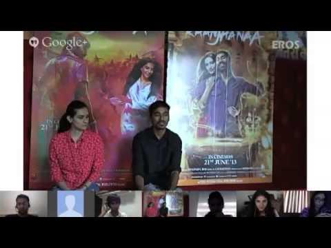G+ Hangout With Dhanush - Raanjhanaa