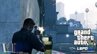 GTA 5 LSPDFR 0.3 - EPiSODE 11 - LET'S BE COPS - (GTA 5 PC POLICE) ATTACKED POLICE STATION