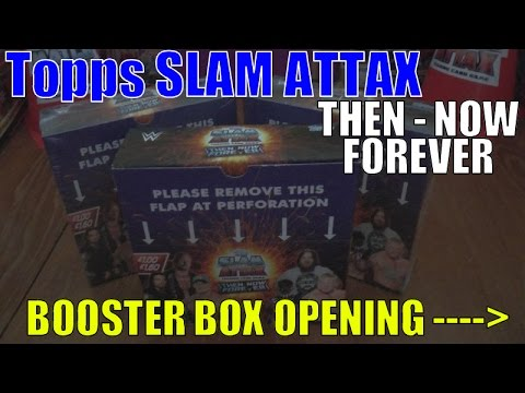 YT PREMIERE!!! ☆ UNBOXING BOOSTER BOX ☆ topps SLAM ATTAX WWE THEN NOW FOREVER trading cards