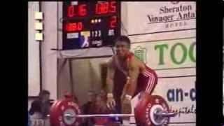 Halil Mutlu 56kg  Snatch 138.5kg World record