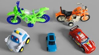 Colors For Children To Learn With Racing Cars, Police Car & Bikes - Learning Video For Kids Children