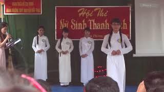 Nữ sinh thanh lịch trường THPT Nguyễn Hữu Thận