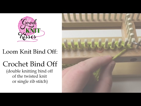 Loom Knit cast off a twisted knit or single rib stitch - YouTube