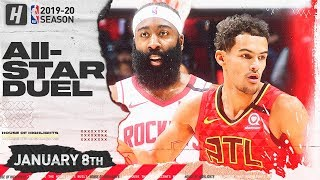 James Harden vs Trae Young TRIPLE-DOUBLE Duel Highlights | Rockets vs Hawks | January 8, 2020