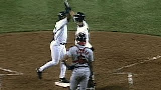 1997 ALDS Gm1: Raines ties the game with two-run shot