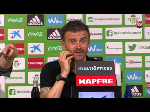 """Luis Enrique: """"It was a game we dominated completely"""""""