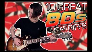 10 Great 80s Guitar Riffs w/ Tabs