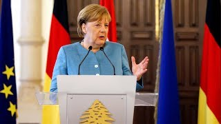German chancellor says conditions in Syria aren