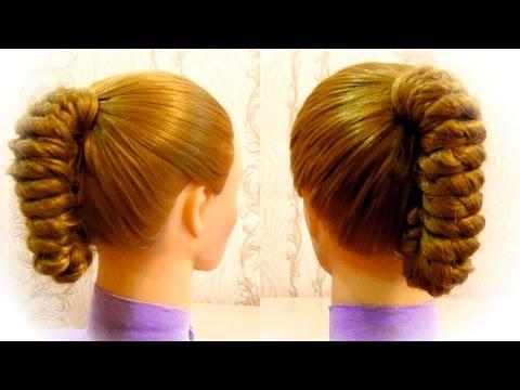Простая прическа в школу  Прическа с плетением Easy hairstyle for girls