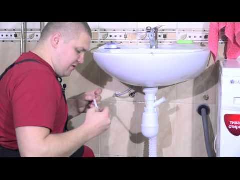 Подключение стиральной машины к умывальнику (мойке)