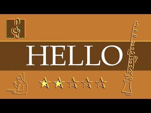 Clarinet Notes Tutorial  Adele  Hello Sheet music