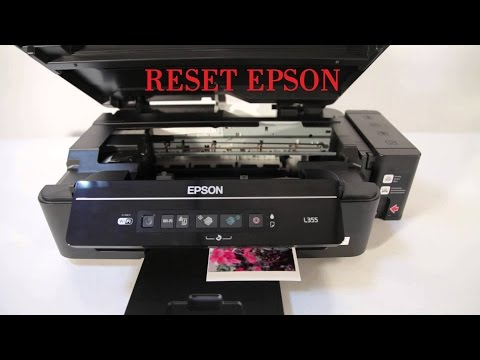 Epson L355 resetar nível de tinta sem programa (reset tutorial impresoras L355 L210 l800)