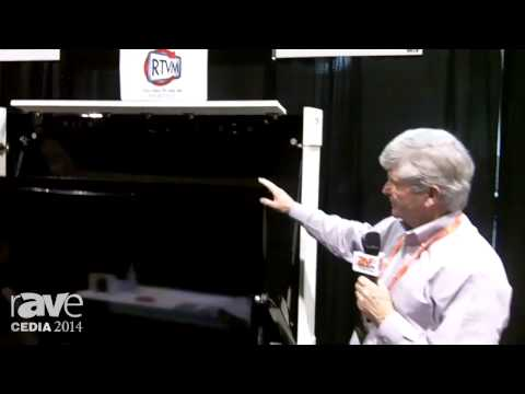 CEDIA 2014: Revolution Television Mounts Demos a TV Mount that Doubles as an Art Installation