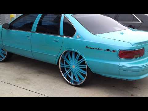 Outrageous Bubble Chevy Impala SS on 28s
