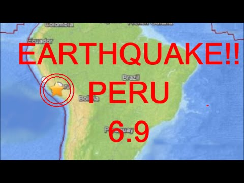 EARTHQUAKE 6.9 PERU South America