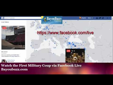 WATCH Turkey Military Live on Facebook,  Twitter & Youtube
